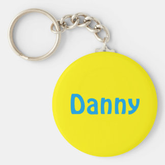 Lively name key-ring basic round button keychain
