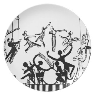 Lively Party with Dancing Dinner Plate