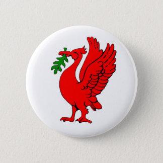 Liver bird 2 inch round button