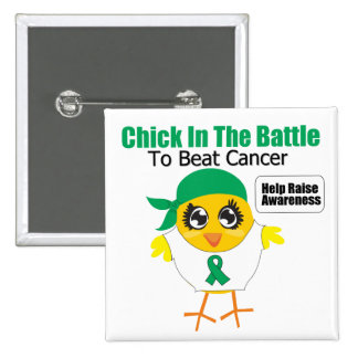 Liver Cancer Chick In the Battle to Beat Cancer Pin