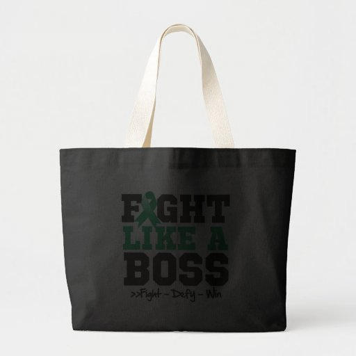 Liver Cancer Fight Like Boss Canvas Bag