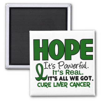 Liver Cancer HOPE 1 Square Magnet