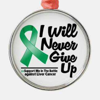 Liver Cancer I Will Never Give Up Christmas Ornament