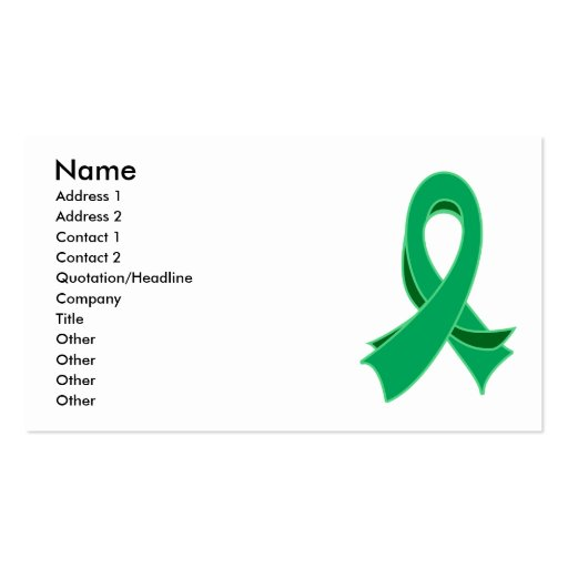 Liver Cancer Stylish Ribbon Business Card