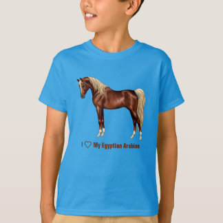 Liver Chestnut Flaxen Mane Tail Egyptian Arabian T-Shirt