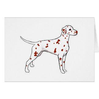 Liver Dalmatian Card