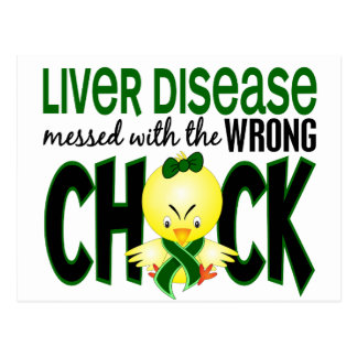 Liver Disease Messed With The Wrong Chick Postcard