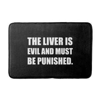 Liver Evil Must Be Punished Bath Mat