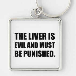 Liver Evil Must Be Punished Keychain