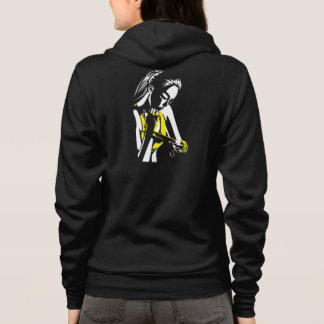 Liver-Hunt with just girl on back Hoodie