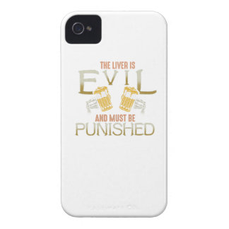 Liver is evil beer with bones biker style shirt iPhone 4 covers