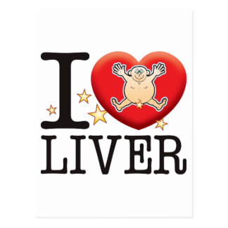 Liver Love Man Postcard