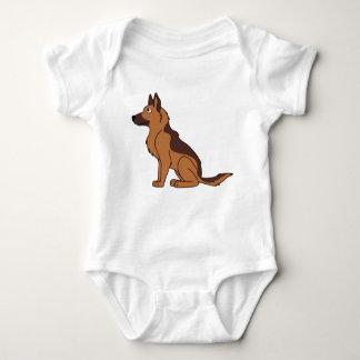 Liver & Tan German Shepherd Baby Bodysuit