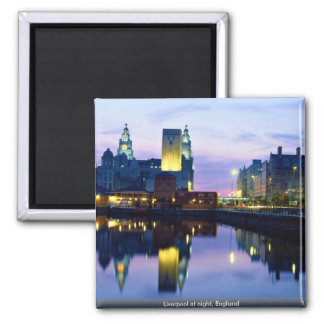 Liverpool at night, England Magnet