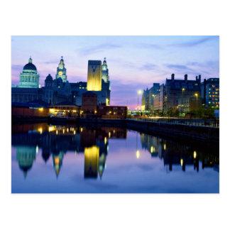 Liverpool at night, England Postcard