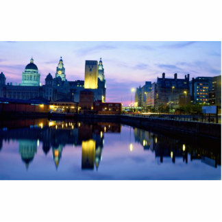 Liverpool at night, England Standing Photo Sculpture