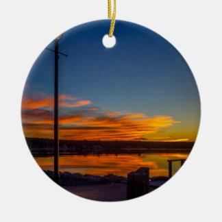 Liverpool Bay Sunset Ceramic Ornament