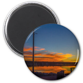 Liverpool Bay Sunset Magnet