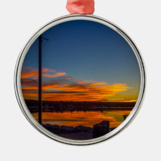 Liverpool Bay Sunset Metal Ornament