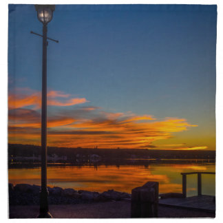 Liverpool Bay Sunset Napkin