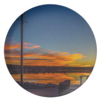 Liverpool Bay Sunset Plate