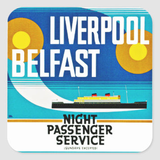 Liverpool - Belfast Ferry Square Sticker