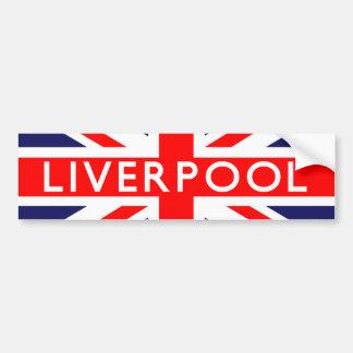 Liverpool : British Flag Bumper Sticker