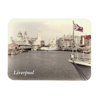 Liverpool by the docks rectangular photo magnet