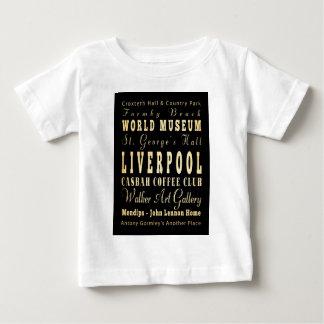 Liverpool City of United Kingdom Typography Art Baby T-Shirt
