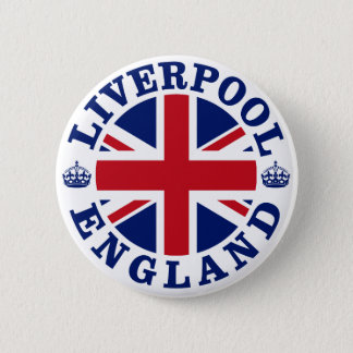Liverpool England British Flag Roundel 2 Inch Round Button