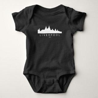 Liverpool England UK Skyline Baby Bodysuit