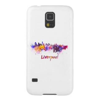 Liverpool skyline in watercolor galaxy s5 cover