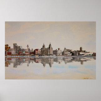 Liverpool Skyline Poster