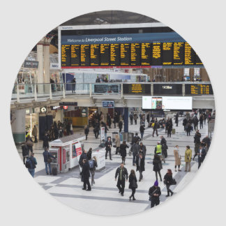 Liverpool Street Station London Classic Round Sticker