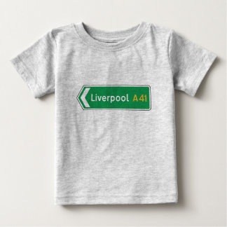 Liverpool, UK Road Sign Baby T-Shirt