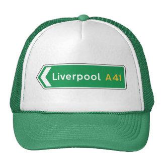 Liverpool, UK Road Sign Trucker Hat