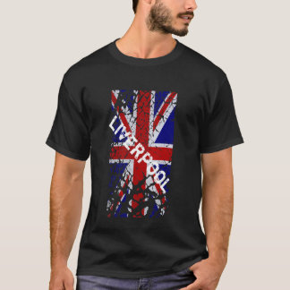 Liverpool Vintage Peeling Paint Union Jack Flag T-Shirt
