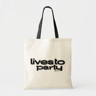 Lives To Party Tote Bag