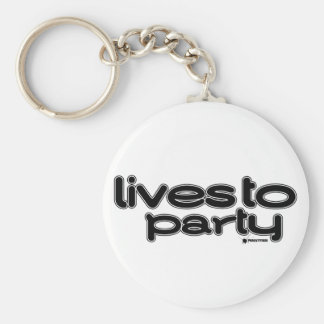 Lives To Party Keychain