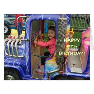 Livia's 5th Birthday Card