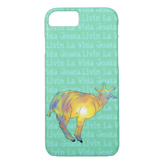 Livin La Vida Goata Funny Bright Goat Animal Art iPhone 8/7 Case
