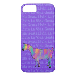 Livin La Vida Goata Funny Colorful Goat Animal Art iPhone 8/7 Case