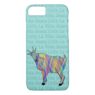 Livin La Vida Goata Funny Goat Colorful Animal Art iPhone 8/7 Case