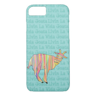 Livin La Vida Goata Funny Goat Stripy Animal Art iPhone 8/7 Case