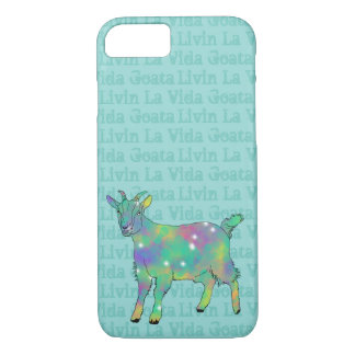 Livin La Vida Goata Funny Green Goat Animal Art iPhone 8/7 Case