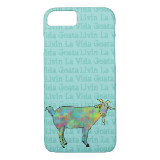 Livin La Vida Goata Funny Green Goat Animal Design iPhone 8/7 Case