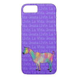 Livin La Vida Goata Funny Painted Goat Animal Art iPhone 8/7 Case