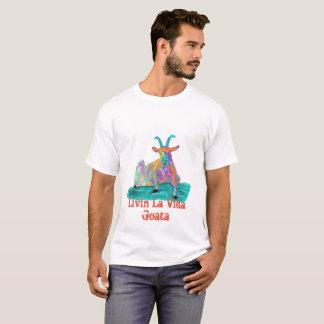 Livin La Vida Goata Funny Screaming Goat Design T-Shirt