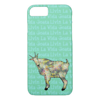 Livin La Vida Goata Funny Weird Goat Animal Art iPhone 8/7 Case
