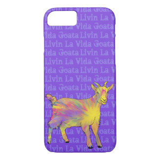 Livin La Vida Goata Funny Yellow Goat Animal Art iPhone 8/7 Case
